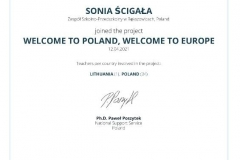 WELCOME TO POLAND, WELCOME TO EUROPE